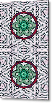 Mandala 7 For Iphone Double Metal Print by Terry Reynoldson