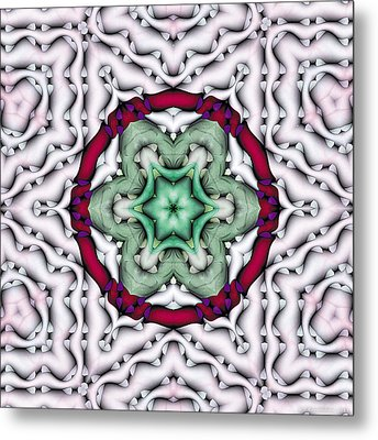 Metal Print featuring the photograph Mandala 7 by Terry Reynoldson
