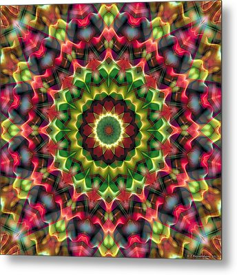 Metal Print featuring the digital art Mandala 70 by Terry Reynoldson