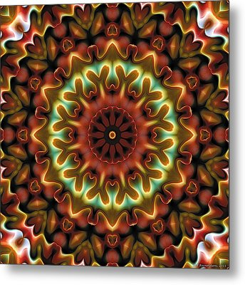 Metal Print featuring the digital art Mandala 71 by Terry Reynoldson