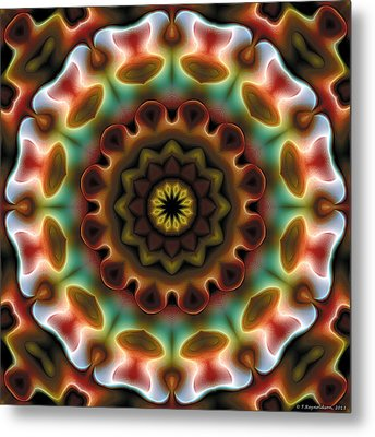 Metal Print featuring the digital art Mandala 74 by Terry Reynoldson