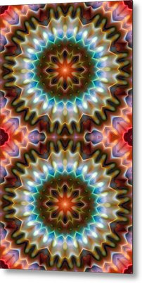 Mandala 79 For Iphone Double Metal Print by Terry Reynoldson