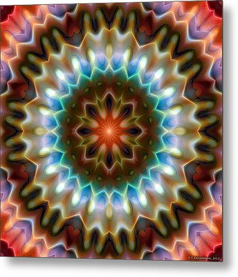 Metal Print featuring the digital art Mandala 79 by Terry Reynoldson