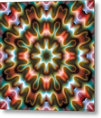 Metal Print featuring the digital art Mandala 80 by Terry Reynoldson