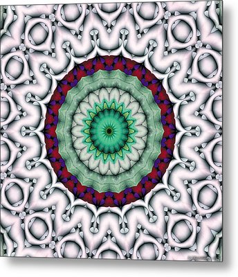 Metal Print featuring the digital art Mandala 9 by Terry Reynoldson