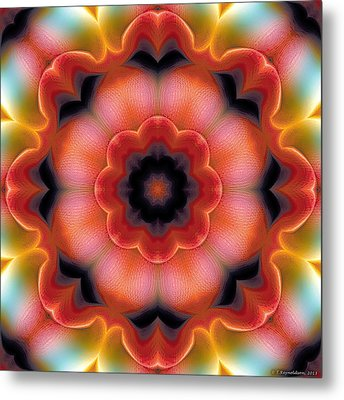 Metal Print featuring the digital art Mandala 91 by Terry Reynoldson