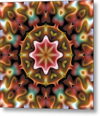 Mandala 92 Metal Print by Terry Reynoldson
