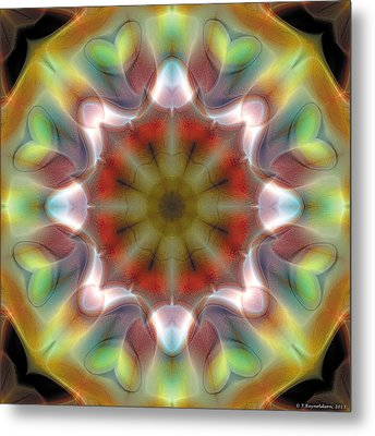Metal Print featuring the digital art Mandala 97 by Terry Reynoldson