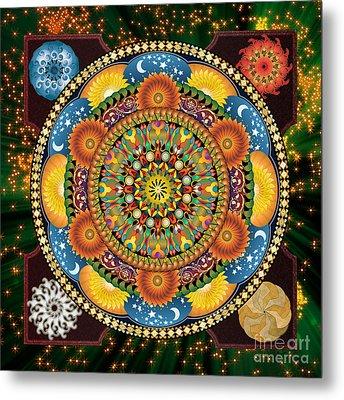 Mandala Elements Metal Print