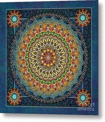 Mandala Fantasia Metal Print by Bedros Awak