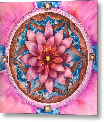 Mandala Of Health Metal Print by Anna Ewa Miarczynska