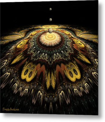 Mandala The Nun Did Not Have Time To Finish. 2013 80/80 Cm.  Metal Print by Tautvydas Davainis