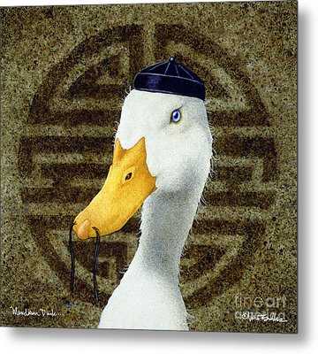 Mandarin Duck ...  Metal Print by Will Bullas