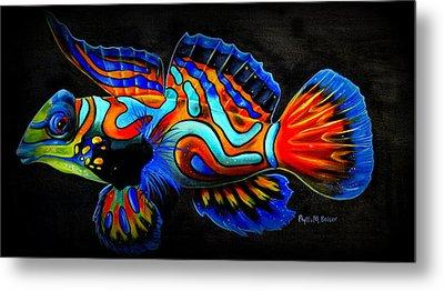 Mandarin Fish Metal Print by Phyllis Beiser
