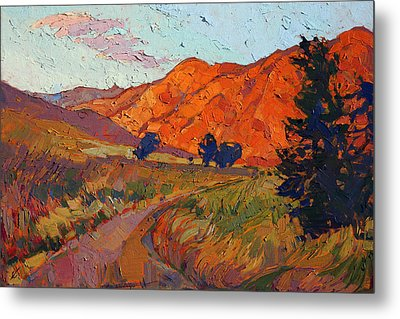 Mandarin Light Metal Print by Erin Hanson