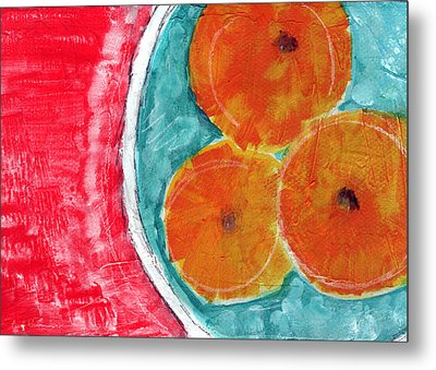 Mandarins Metal Print by Linda Woods