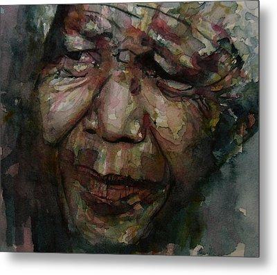 Mandela   Metal Print by Paul Lovering