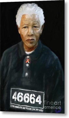 Metal Print featuring the digital art Mandela by Vannetta Ferguson