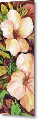 Metal Print featuring the painting Mandevilla by Natasha Denger
