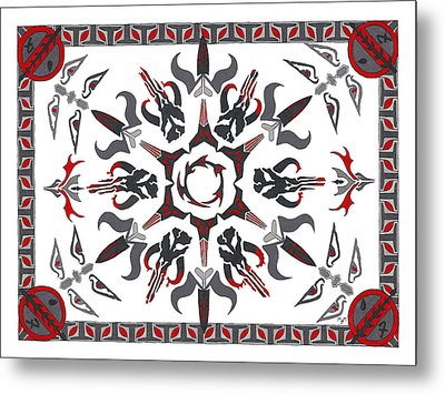 Metal Print featuring the drawing Mando'ade Darasuum by Mary J Winters-Meyer