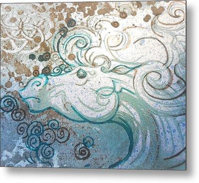 Mane View Metal Print by Corina Graves