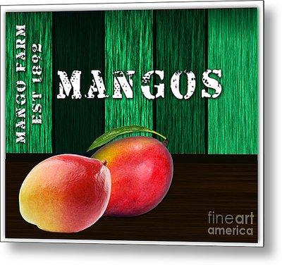 Mango Farm Sign Metal Print by Marvin Blaine