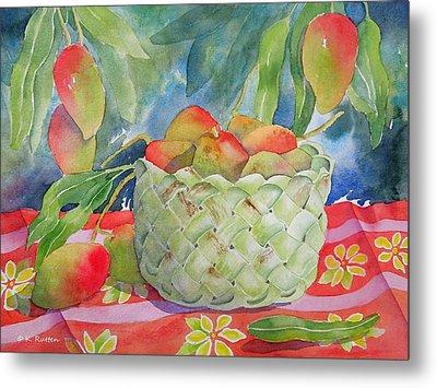 Mango Harvest Metal Print by Kathleen Rutten