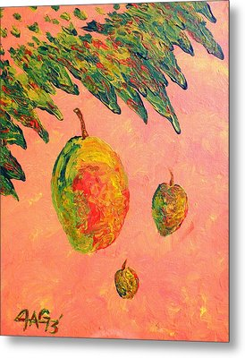 Mango Sky Metal Print by The GYPSY And DEBBIE