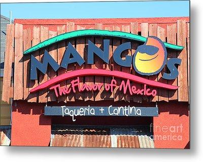 Mangos Restaurant At San Francisco California 5d26091 Metal Print by Wingsdomain Art and Photography