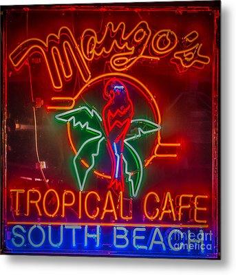 Mango's South Beach Miami - Hdr Style - Square Metal Print
