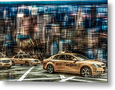 Manhattan - Yellow Cabs - Future Metal Print by Hannes Cmarits