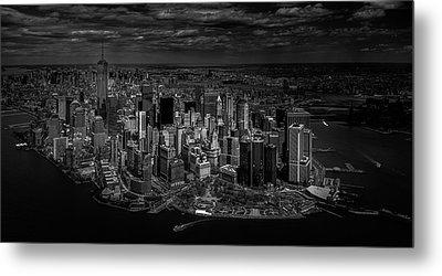 Manhattan - Bird's Eye View Metal Print by Michael Jurek