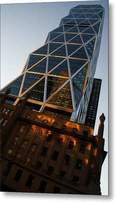 Manhattan Blues And Oranges Metal Print