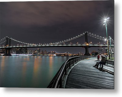 Manhattan Bridge - New York - Usa 2 Metal Print by Larry Marshall