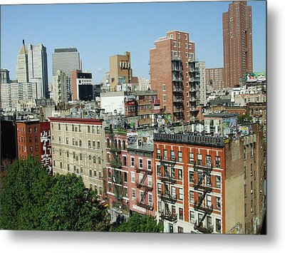 Manhattan Graffiti Metal Print by Diane Reed