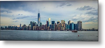 Manhattan Island Skyline Metal Print by David Morefield