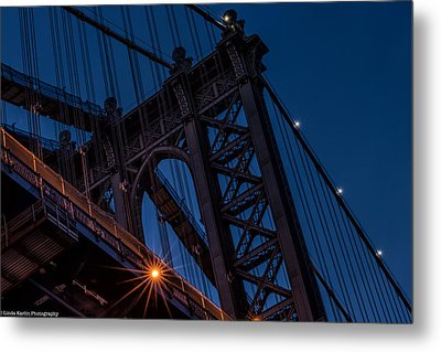 Metal Print featuring the photograph Manhattan Light by Linda Karlin