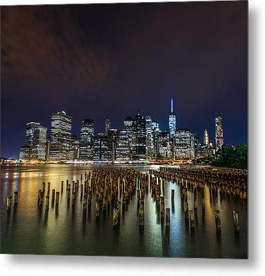 Manhattan Skyline - New York - Usa Metal Print by Larry Marshall