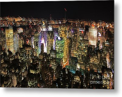 Metal Print featuring the photograph Manhattan Skyline Empire State Wobbles by Andy Prendy