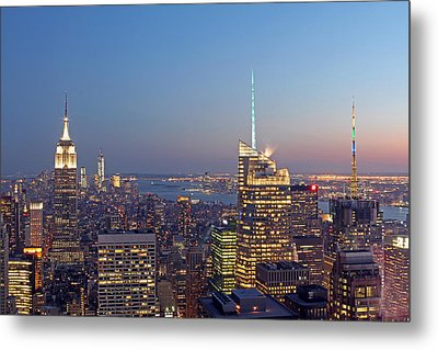 Manhattan Skyline From The Top Of The Rock Metal Print by Juergen Roth