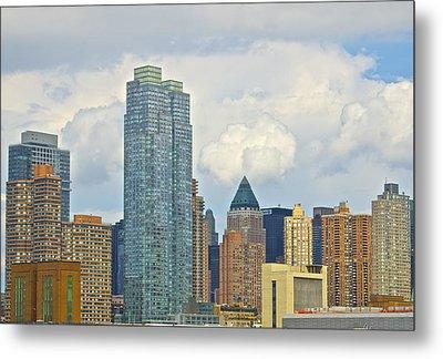 Manhattan Skyline II Metal Print by Galexa Ch