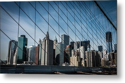 Metal Print featuring the photograph Manhattan Skyline by James Howe