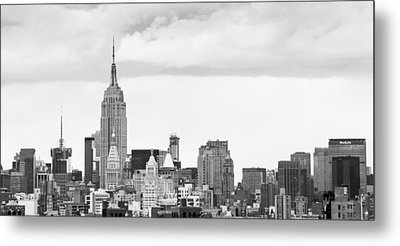 Manhattan Skyline Metal Print by Takeshi Okada