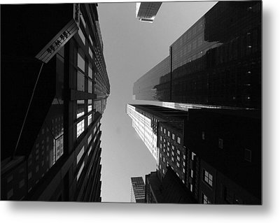 Manhattan Skyscrapers Metal Print by Linda Edgecomb