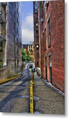 Manhattan Theater District Alley Metal Print by Randy Aveille