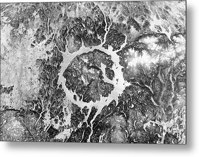 Manicouagan Crater Metal Print by Anonymous