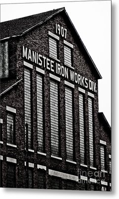 Manistee Iron Works Metal Print by Randall  Cogle