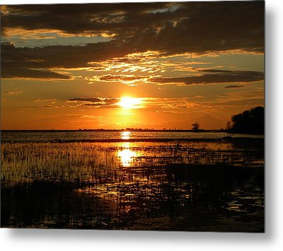Metal Print featuring the photograph Manitoba Sunset by James Petersen