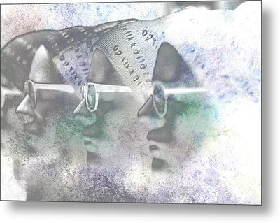 Mannequin With Glasses In Digital Art Metal Print by Tommytechno Sweden