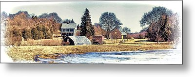 Metal Print featuring the photograph Manomet Farm by Constantine Gregory